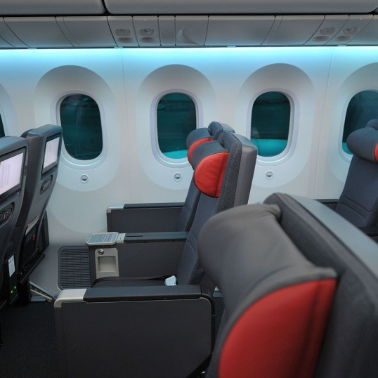 Air Canada's new Premium Economy cabin on the 787 Dreamliner. (CNW Group/Air Canada)